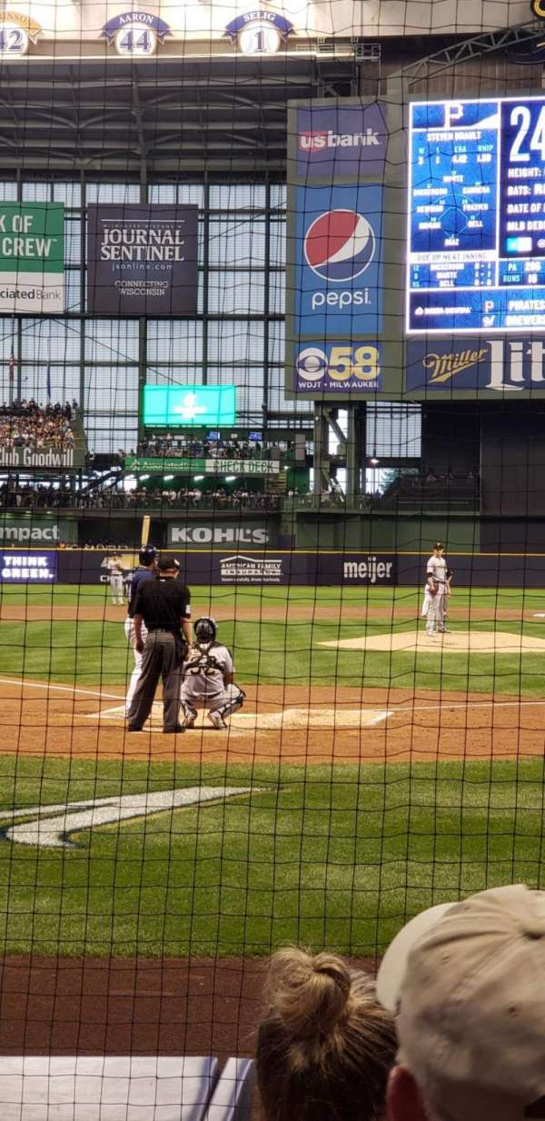 Miller park , section: 117, row: 4, seat: 11