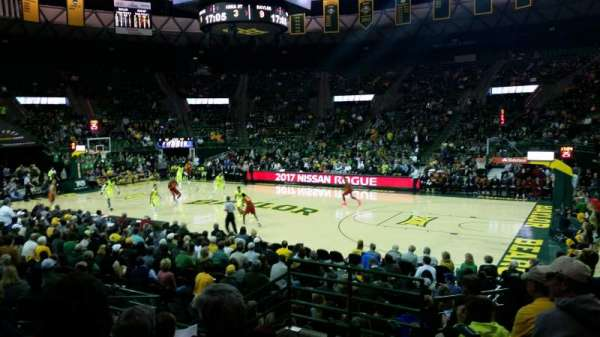 Ferrell Center, section: 123, row: 12, seat: 3