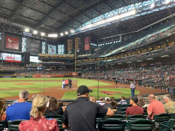 Chase Field, section: L, row: H, seat: 10