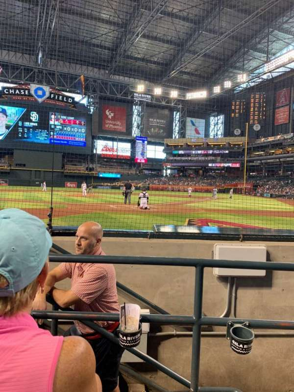 Chase Field, section: K, row: B, seat: 5