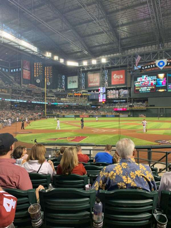 Chase Field, section: I, row: G, seat: 5