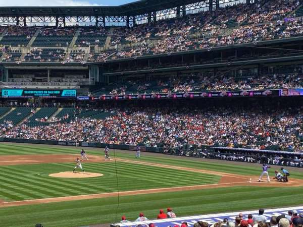 Coors Field, section: 140, row: 28, seat: 11