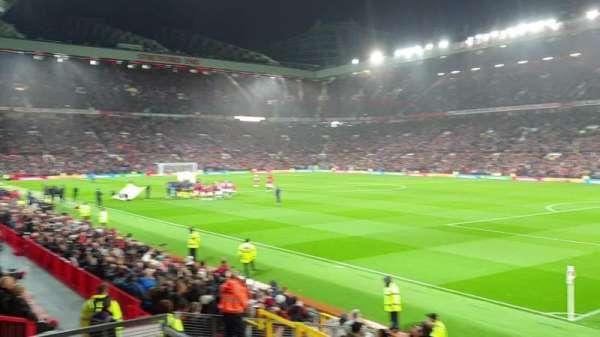 Old Trafford, section: E30, row: 1, seat: 58