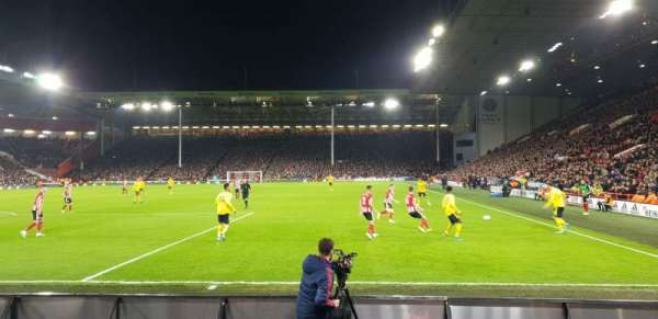 Bramall Lane, section: BL3, row: F, seat: 148