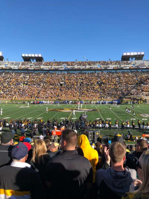 Faurot Field, section: J, row: 21, seat: 12