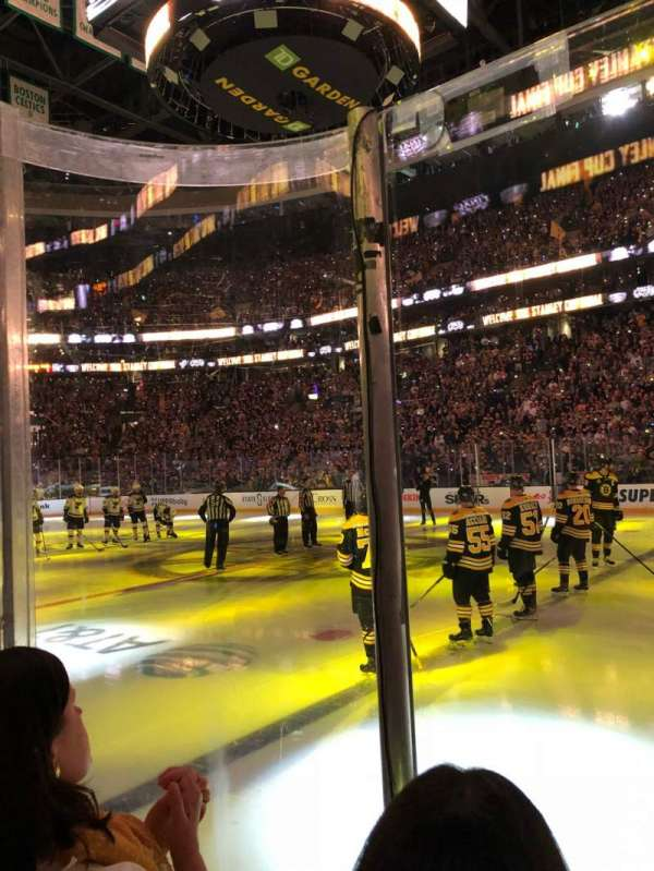 TD Garden, section: Loge 22, row: 2, seat: 6