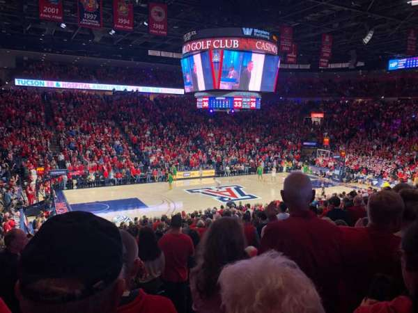 McKale Center, section: MI 5, row: 21, seat: 6
