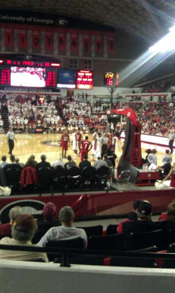 Stegeman Coliseum, section: N, row: 3, seat: 6
