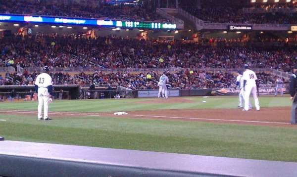 Target Field, section: 1, row: WC, seat: 6