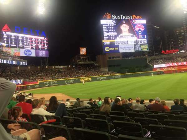 Truist Park, section: 38, row: 10, seat: 1