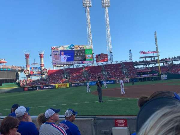 Great American Ball Park, section: 114, row: F, seat: 9
