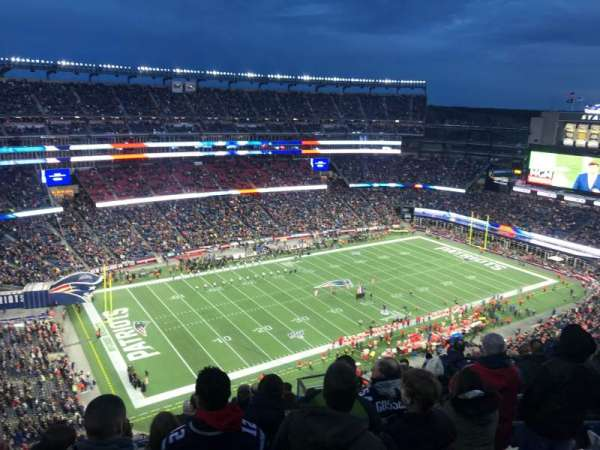 Gillette Stadium, section: 337, row: 18, seat: 8