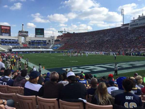 Los Angeles Memorial Coliseum, section: 17L, row: 11, seat: 8