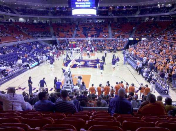 Auburn Arena, section: 107, row: 16, seat: 6