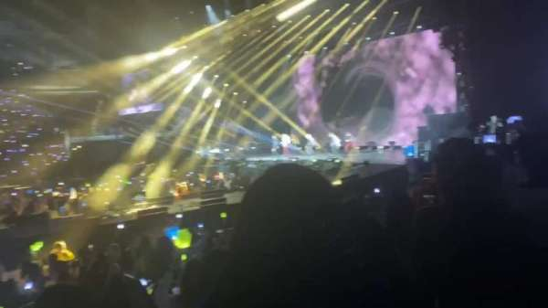 The O2 Arena, section: 112, row: H, seat: 366