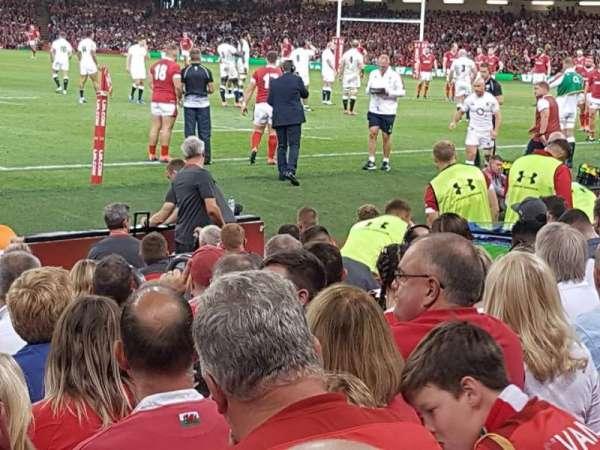 Principality Stadium, section: L10, row: 10, seat: 17