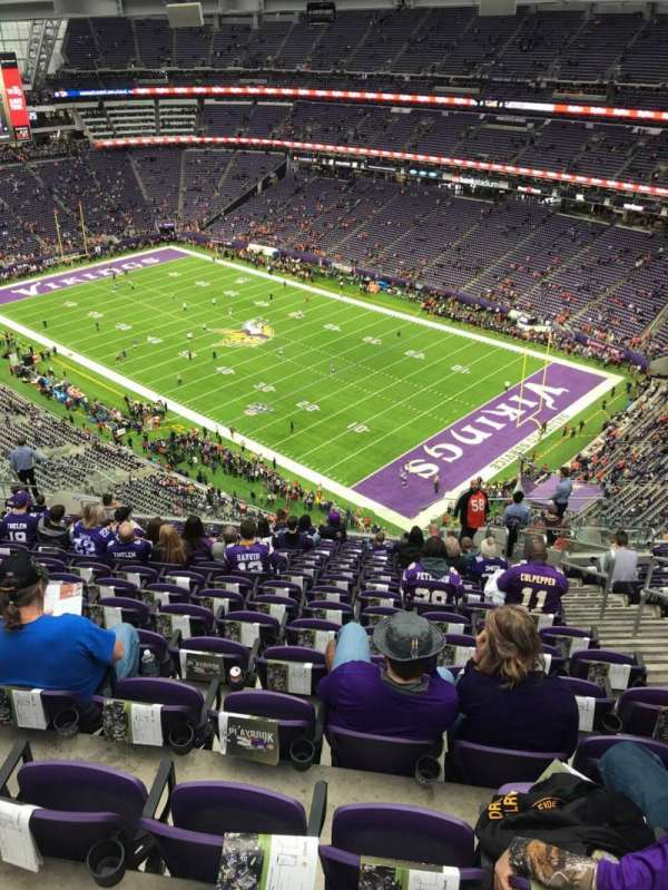 U.S. Bank Stadium, section: 334, row: 18, seat: 4