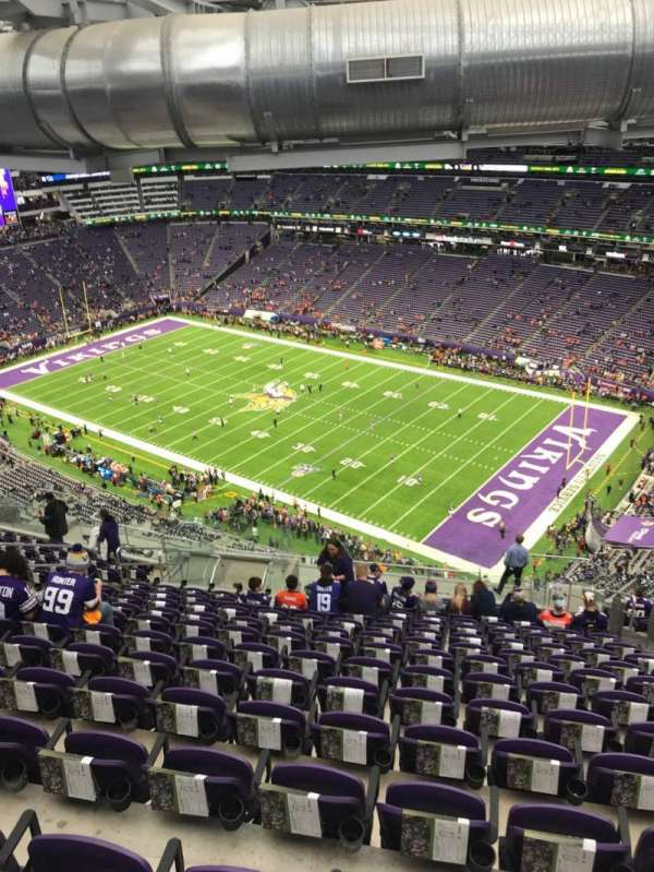 U.S. Bank Stadium, section: 335, row: 20, seat: 6