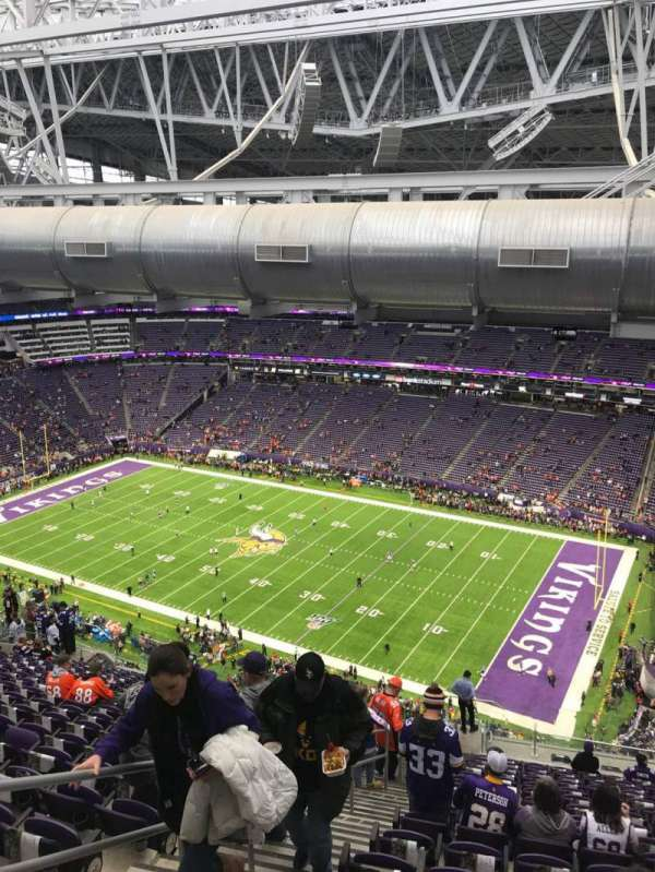 U.S. Bank Stadium, section: 336, row: 21, seat: 12