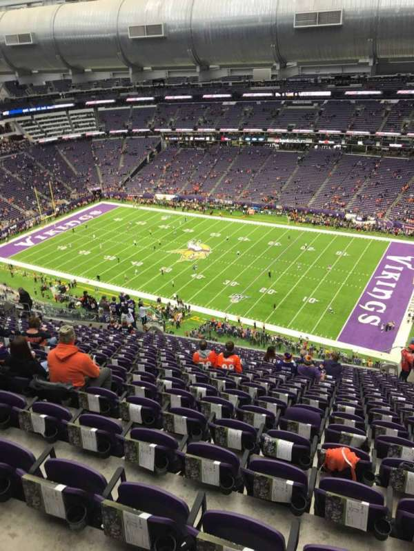 U.S. Bank Stadium, section: 337, row: 20, seat: 1