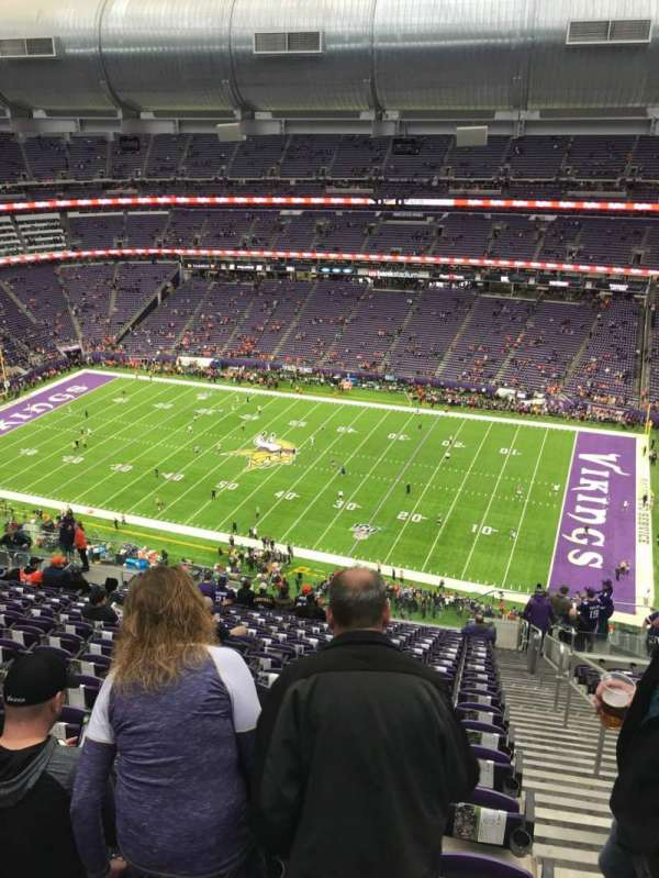 U.S. Bank Stadium, section: 338, row: 19, seat: 1
