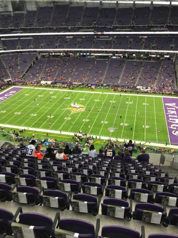 U.S. Bank Stadium, section: 339, row: 13, seat: 4