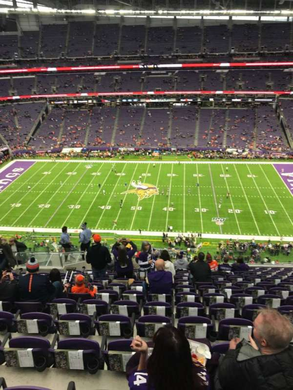 U.S. Bank Stadium, section: 340, row: 14, seat: 16
