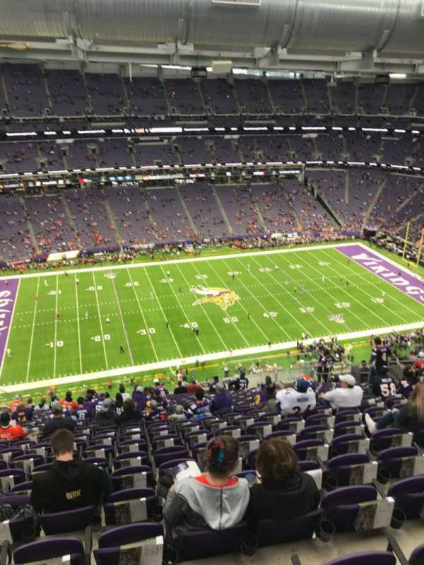 U.S. Bank Stadium, section: 343, row: 21, seat: 13