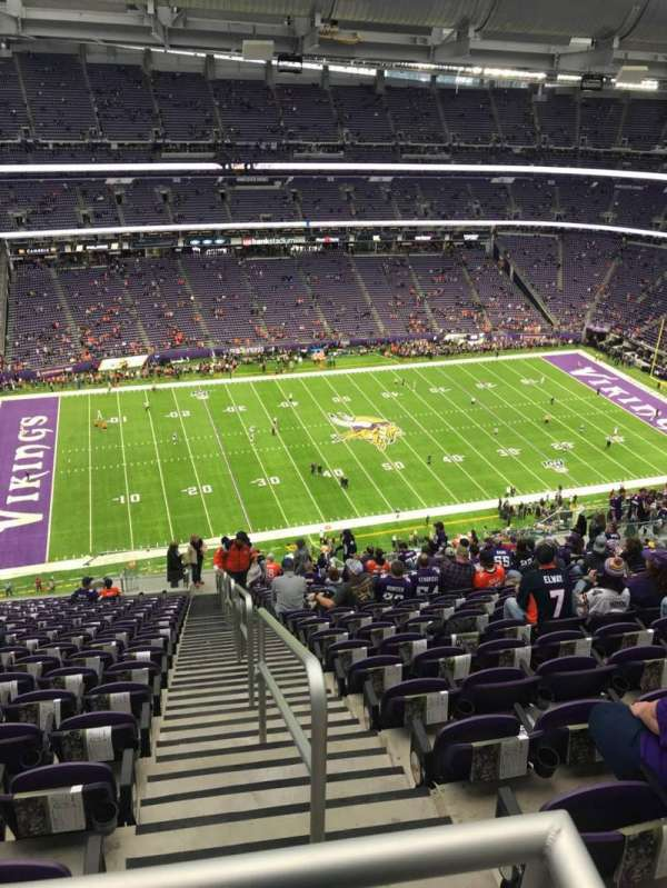U.S. Bank Stadium, section: 344, row: 21, seat: 1