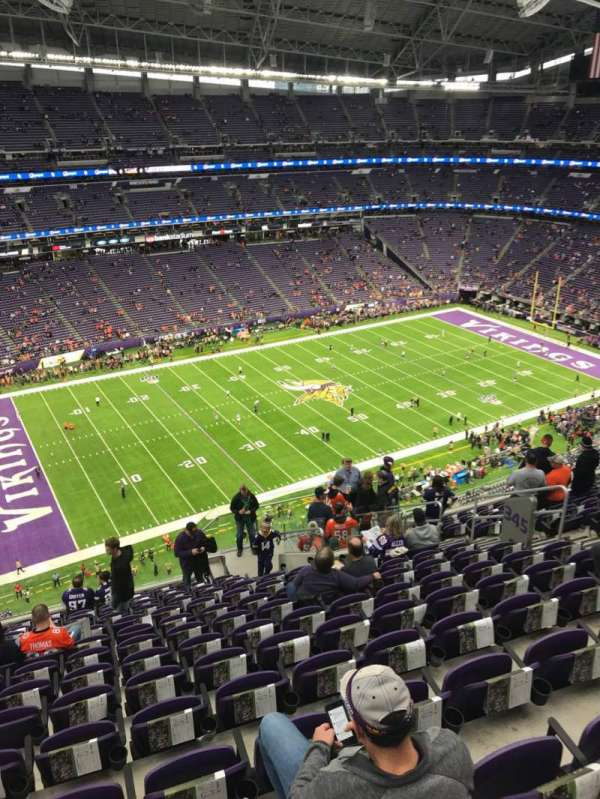 U.S. Bank Stadium, section: 345, row: 14, seat: 11