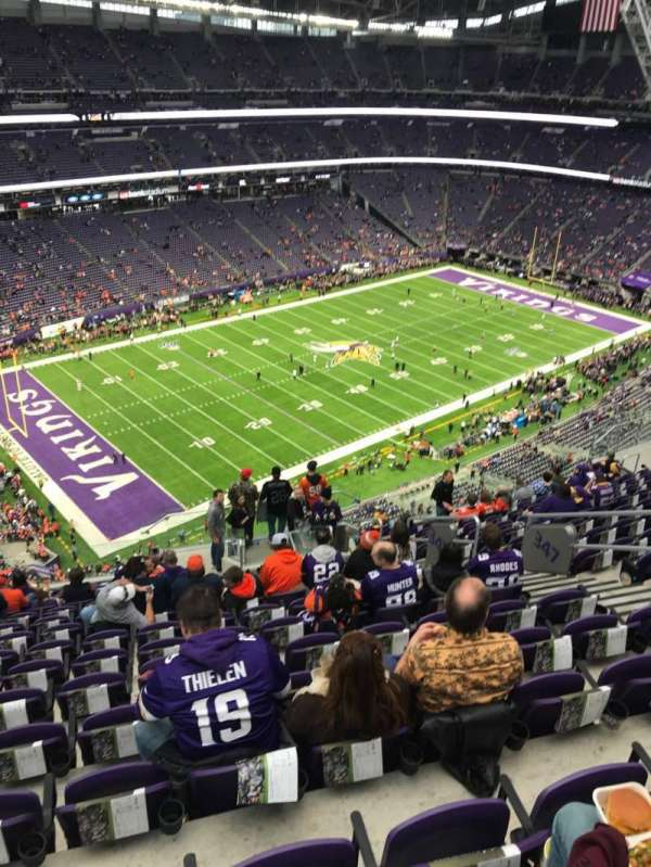 U.S. Bank Stadium, section: 347, row: 15, seat: 8