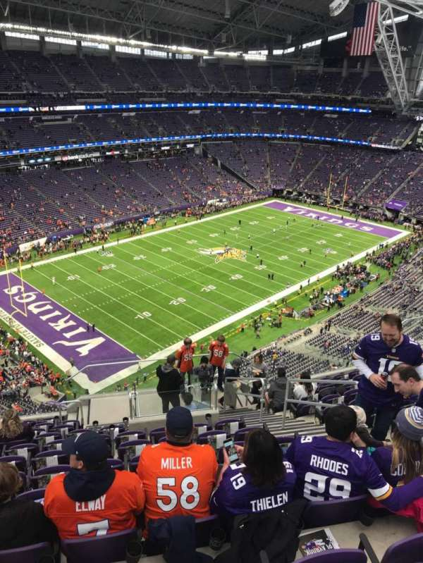 U.S. Bank Stadium, section: 348, row: 12, seat: 5