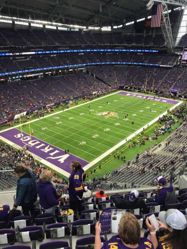 U.S. Bank Stadium, section: 349, row: 8, seat: 13