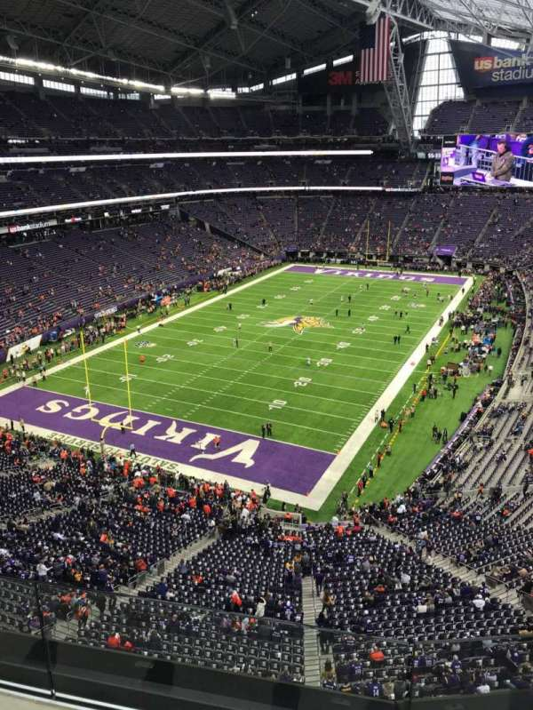 U.S. Bank Stadium, section: 351, row: B, seat: 6