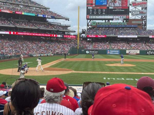 Citizens Bank Park, section: 118, row: 11, seat: 4
