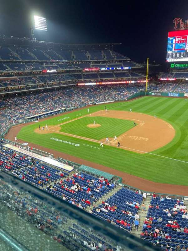 Citizens Bank Park, section: 313, row: 1, seat: 1