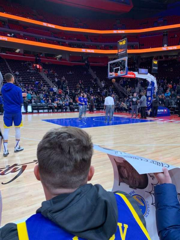 Little Caesars Arena, section: Courtside, row: 1, seat: Unknown
