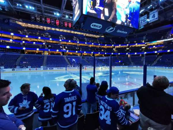 Amalie Arena, section: 102, row: D, seat: 15