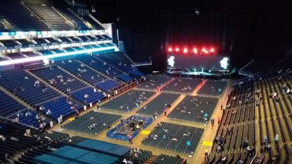 The O2 Arena, section: 414, row: A, seat: 766