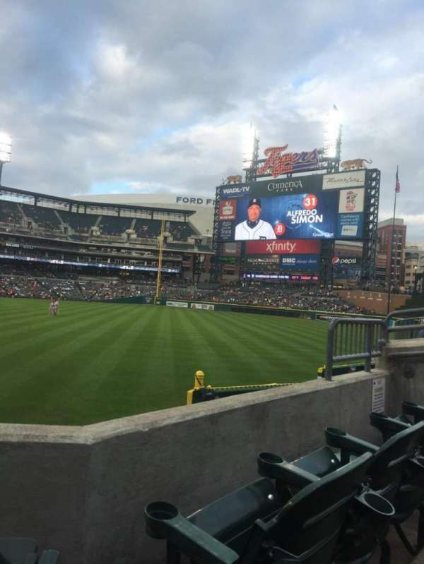 Comerica Park, section: 111, row: 23, seat: 3