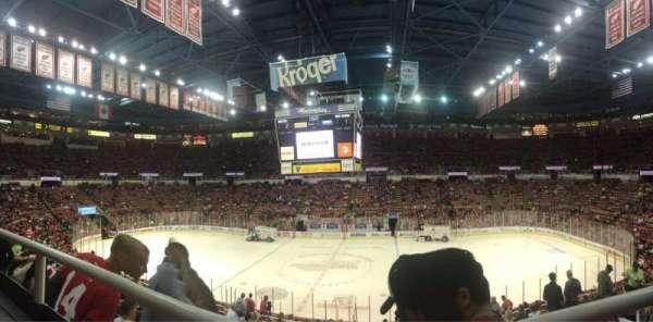 Joe Louis Arena, section: 207, row: 1, seat: 3