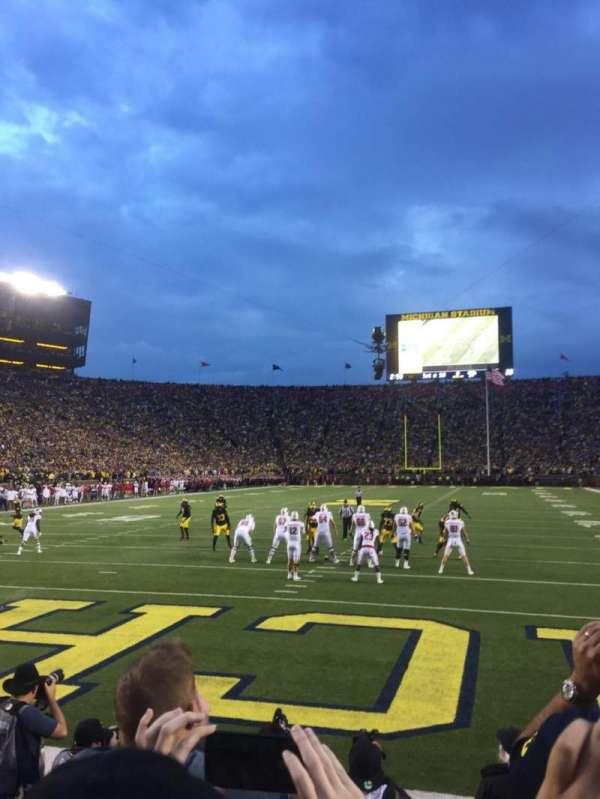 Michigan Stadium, section: 33, row: 1, seat: 9