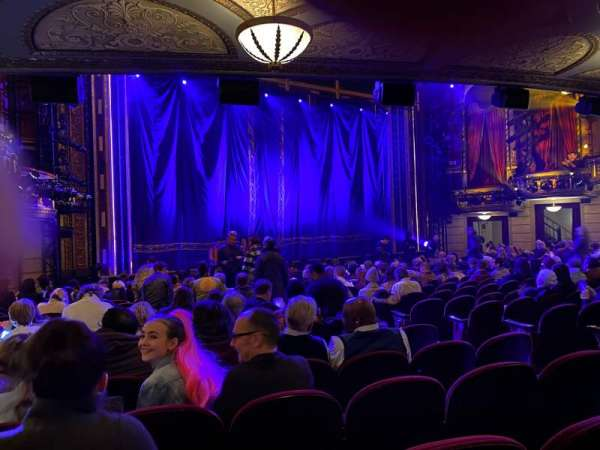 Brooks Atkinson Theatre, section: Orchestra L, row: P, seat: 13