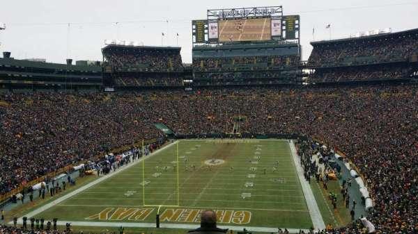 Lambeau Field, section: 302, row: 3, seat: 4