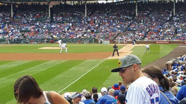 Wrigley Field, section: 101, row: 10, seat: 8