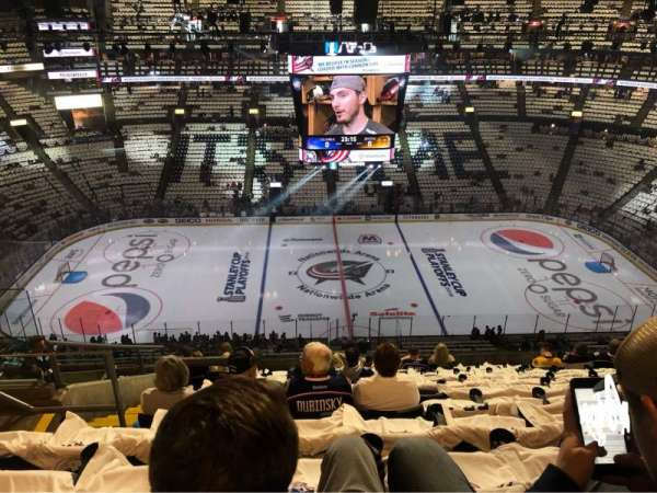Nationwide Arena, section: 217, row: M, seat: 22