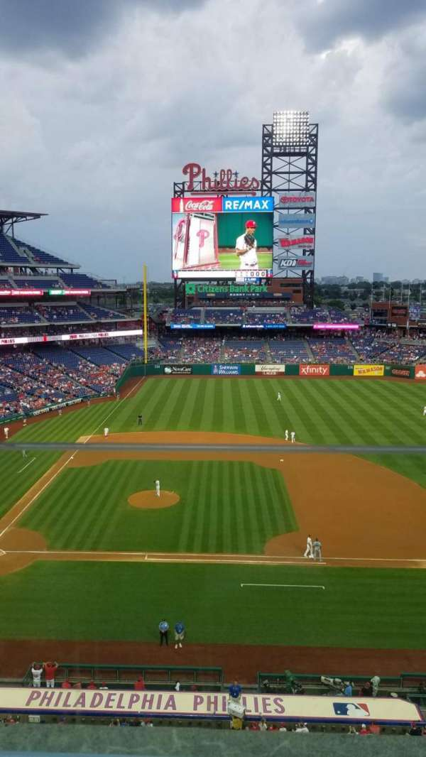Citizens Bank Park, section: 315, row: 1, seat: 21
