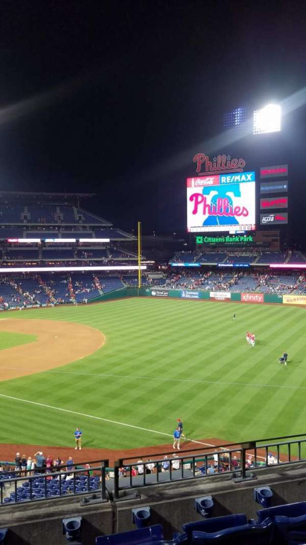 Citizens Bank Park, section: 209, row: 4, seat: 8