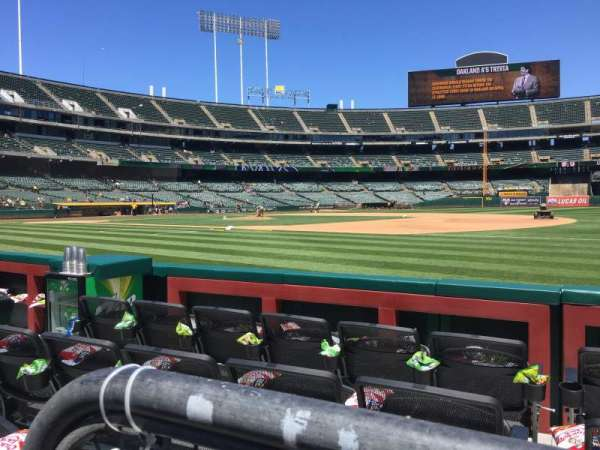 Oakland Alameda Coliseum, section: 109, row: 1, seat: 6