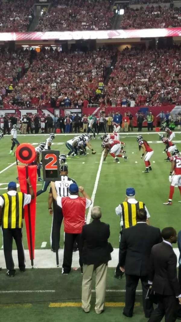 Georgia Dome, section: 133, row: 3, seat: 3
